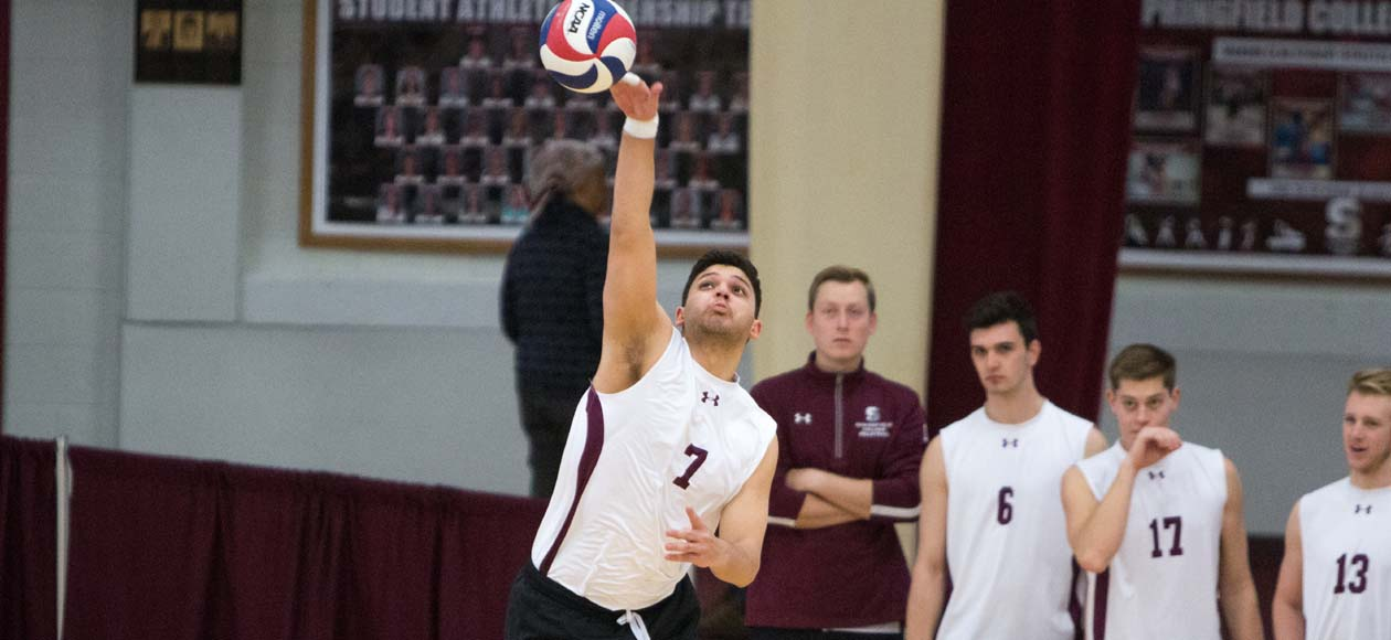 No. 1 Men's Volleyball Downs No. 7 Wentworth and Hunter In Three Sets