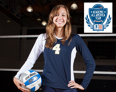 Gallaudet's Ann Whited named to the CoSIDA Academic All-America third team, first female to earn this honor in school history