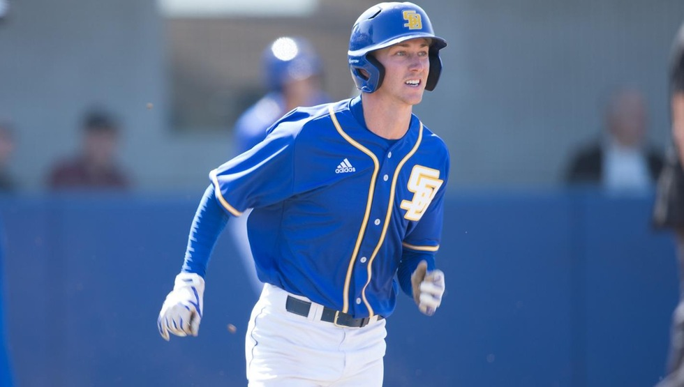 Clay Fisher hit a walk-off RBI single in the bottom of the 12th inning to lead the Gauchos past UC Riverside 9-8 in the series opener on Friday night. (Photo by Eric Isaacs)