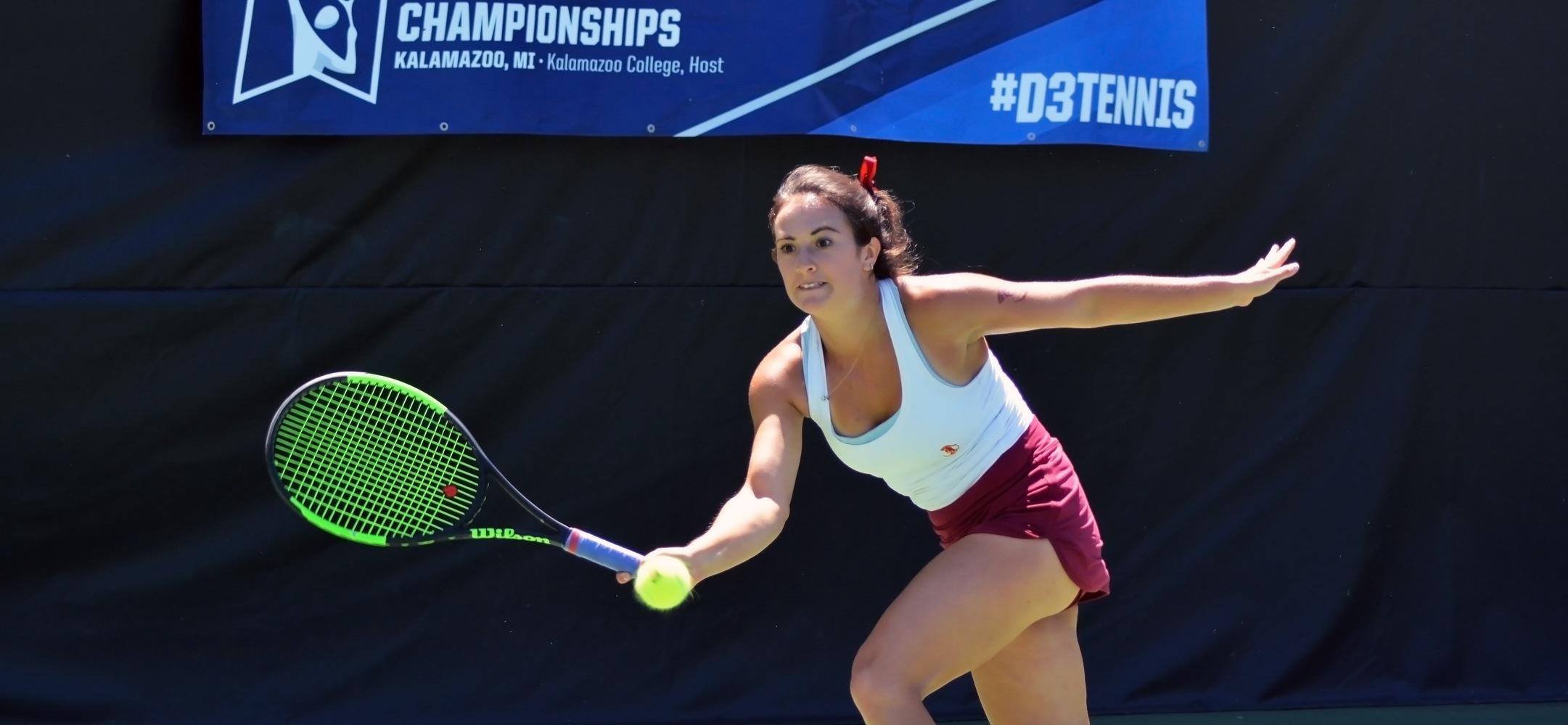 Rebecca Berger won a straight-set decision in the national title match for the second year in a row