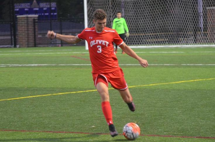Men's soccer team upended by Adrian, 3-0
