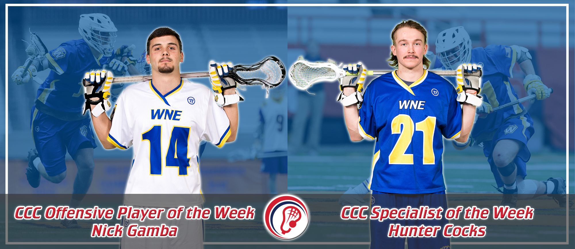 Nick Gamba & Hunter Cocks Earn Weekly CCC Awards