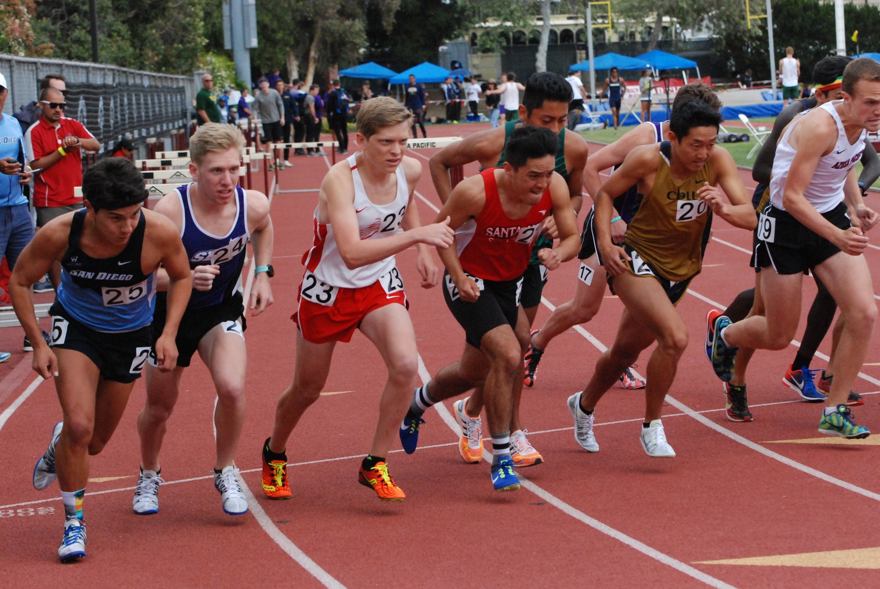 Santa Ana Warms up for OEC Track and Field Finals