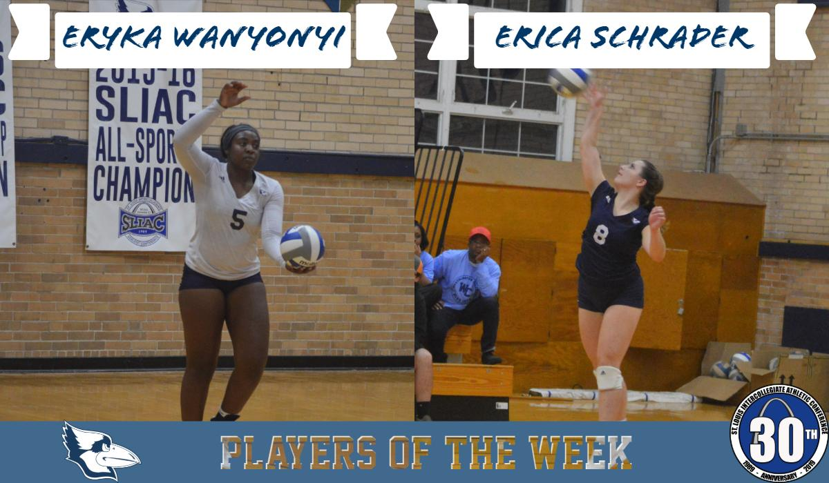 Wanyonyi and Schrader Named SLIAC Players of the Week