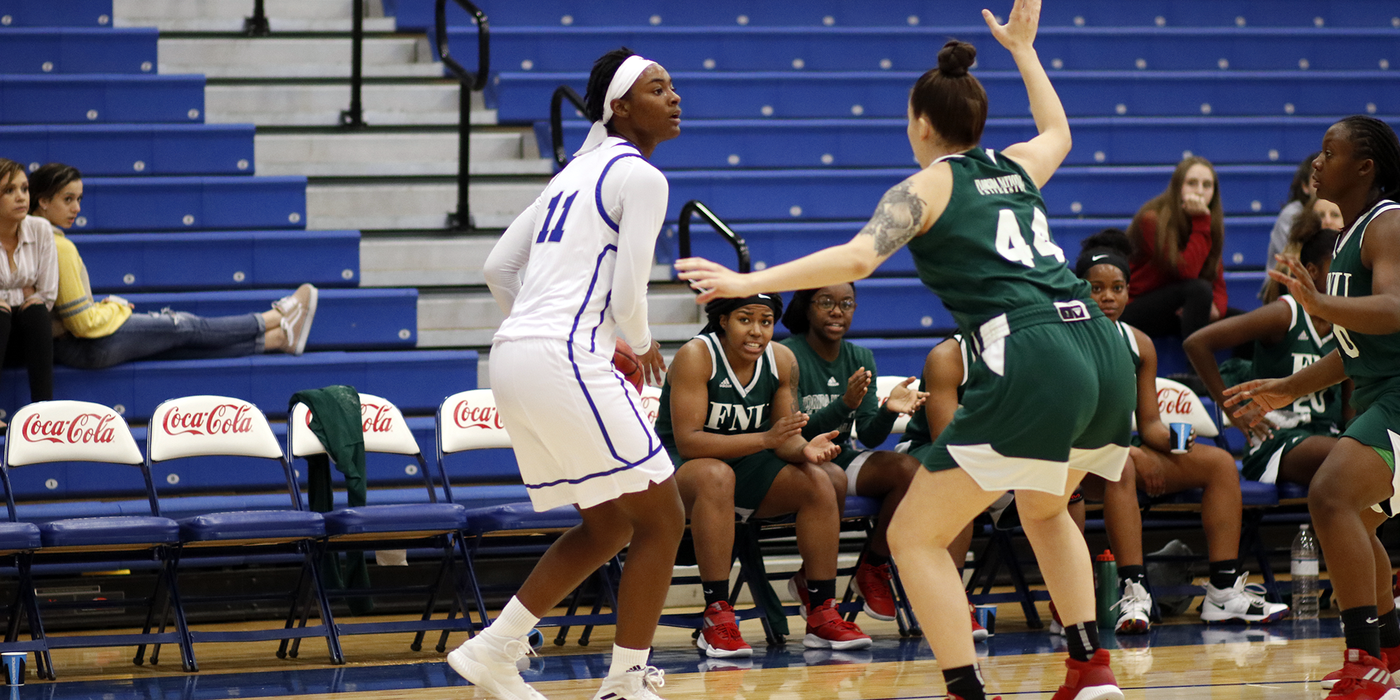 Strong Front Court Play Leads Women's Basketball to Narrow Victory
