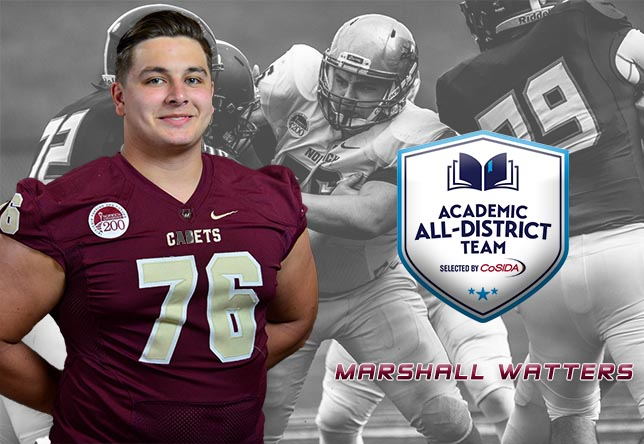Football: Marshall Watters Named to CoSIDA All-District Team