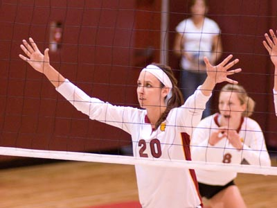 Senior Kristy Gilchrist became the 16th player in Bulldog volleyball history to record 1,000 career kills.