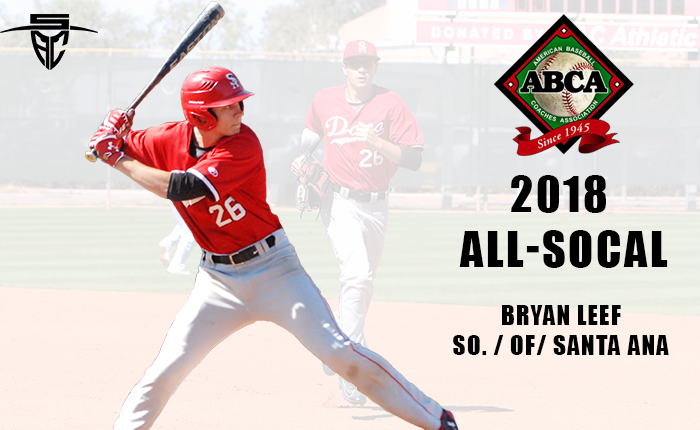 Leef Voted onto 2018 ABCA All-SoCal Team