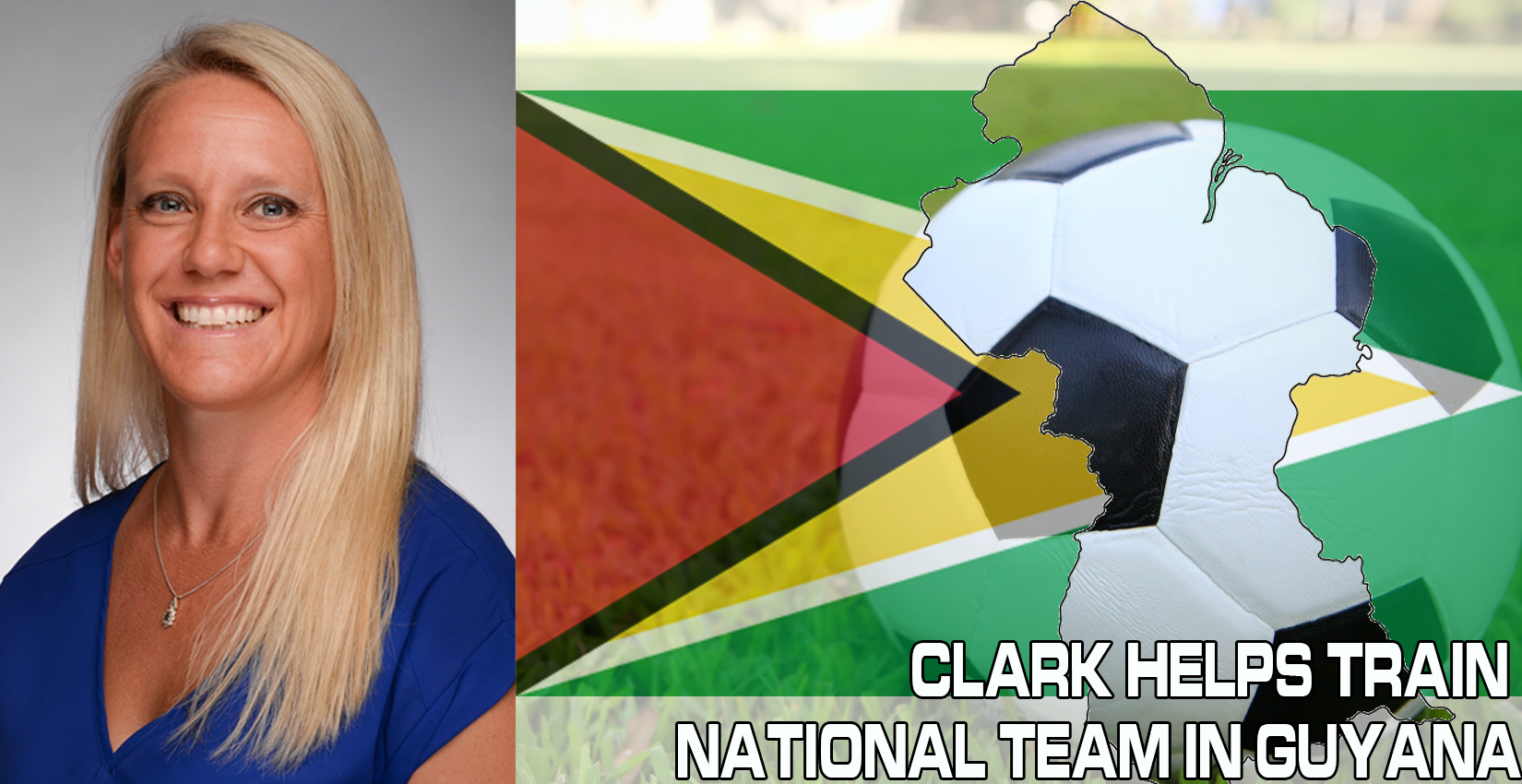 Hope Clark training Guyana National Team