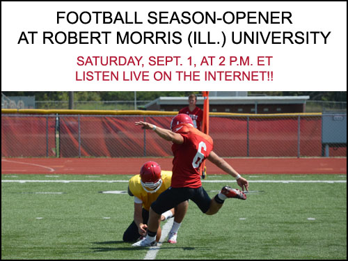 Olivet College football team travels to play Robert Morris in season-opener, listen to the game LIVE on the Internet