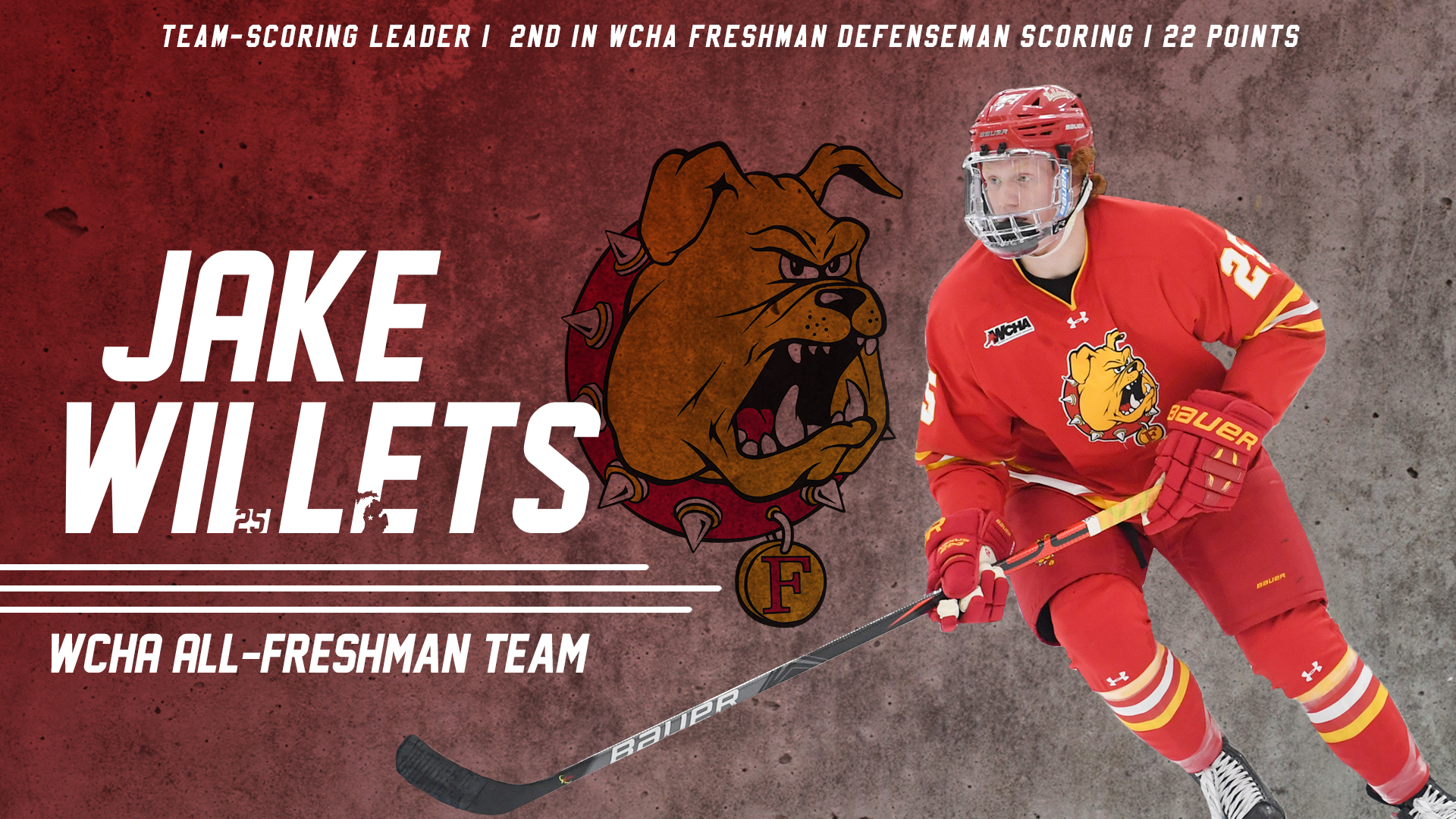 Ferris State's Willets Named To WCHA All-Freshman Team