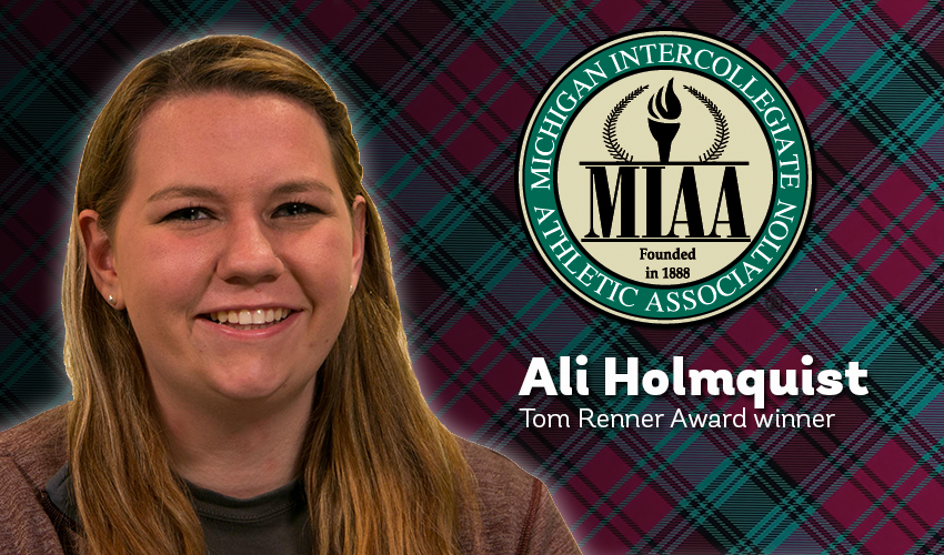 Holmquist receives MIAA's Tom Renner Award