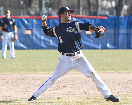 Gallaudet's Marcus Smith throws a one-hitter as Bison split with Penn St.-Abington