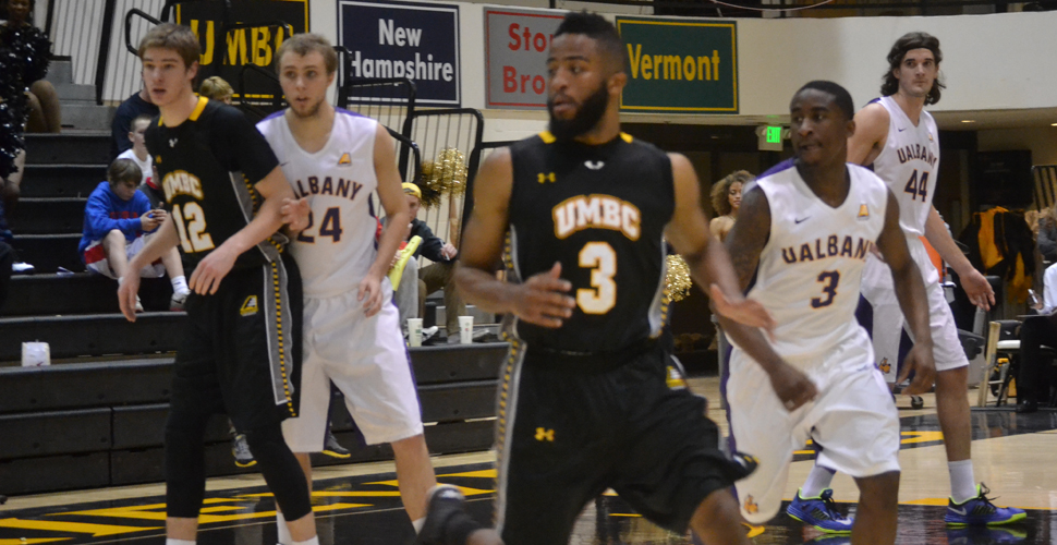 Elliott and Jones Set Marks, But Men's Basketball Falls to Host Albany in AE Quarters