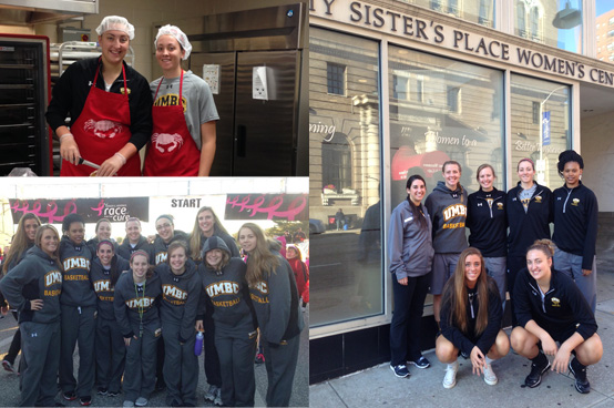 Women's Basketball Continues to be Active in the Community During the Fall