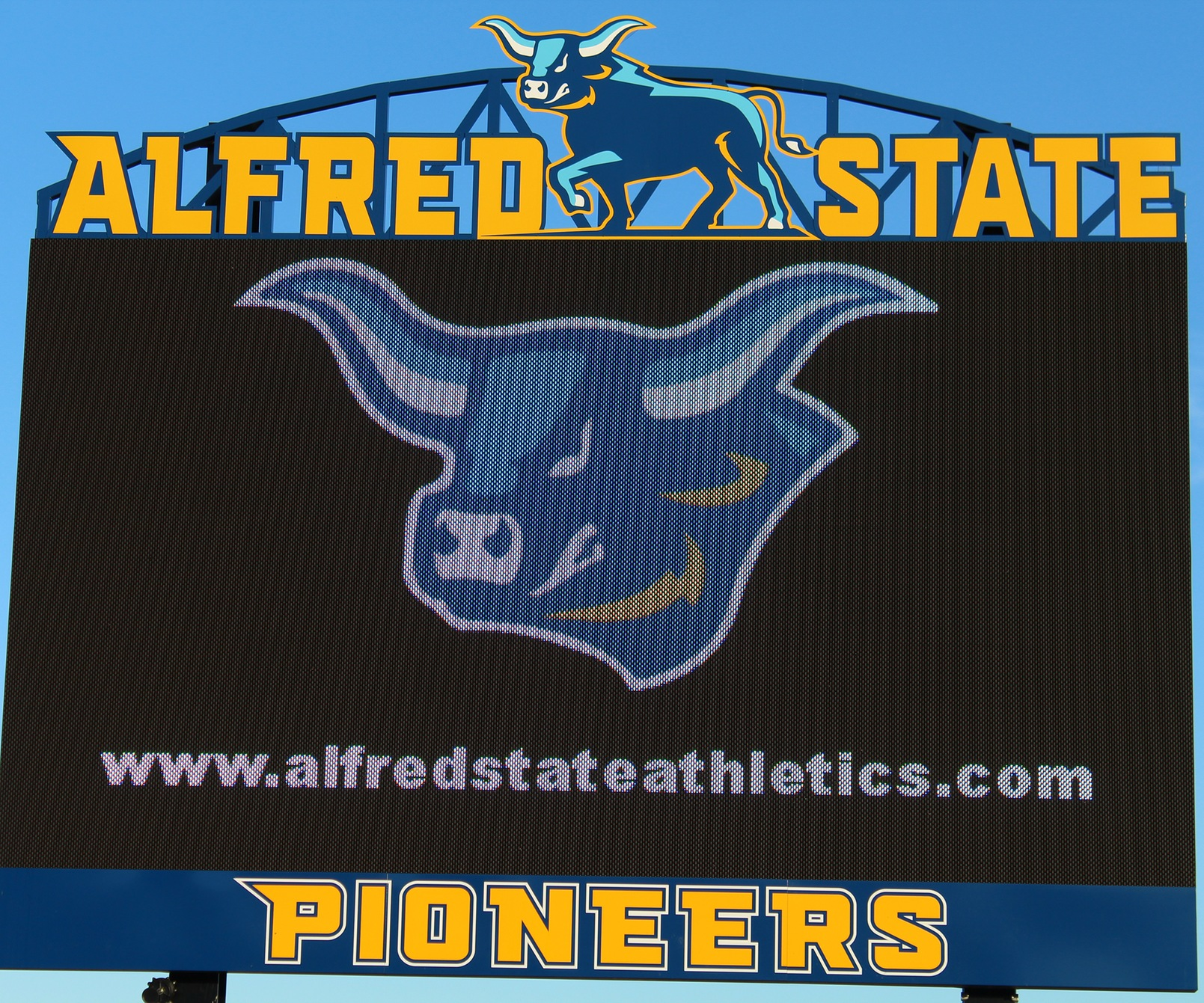 Alfred State's new Daktronics Video Board