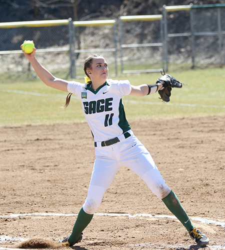 Sage Softball Shuts Out Panthers in Doubleheader