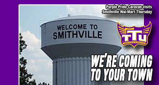 Purple Pride Caravan visits Smithville Thursday afternoon