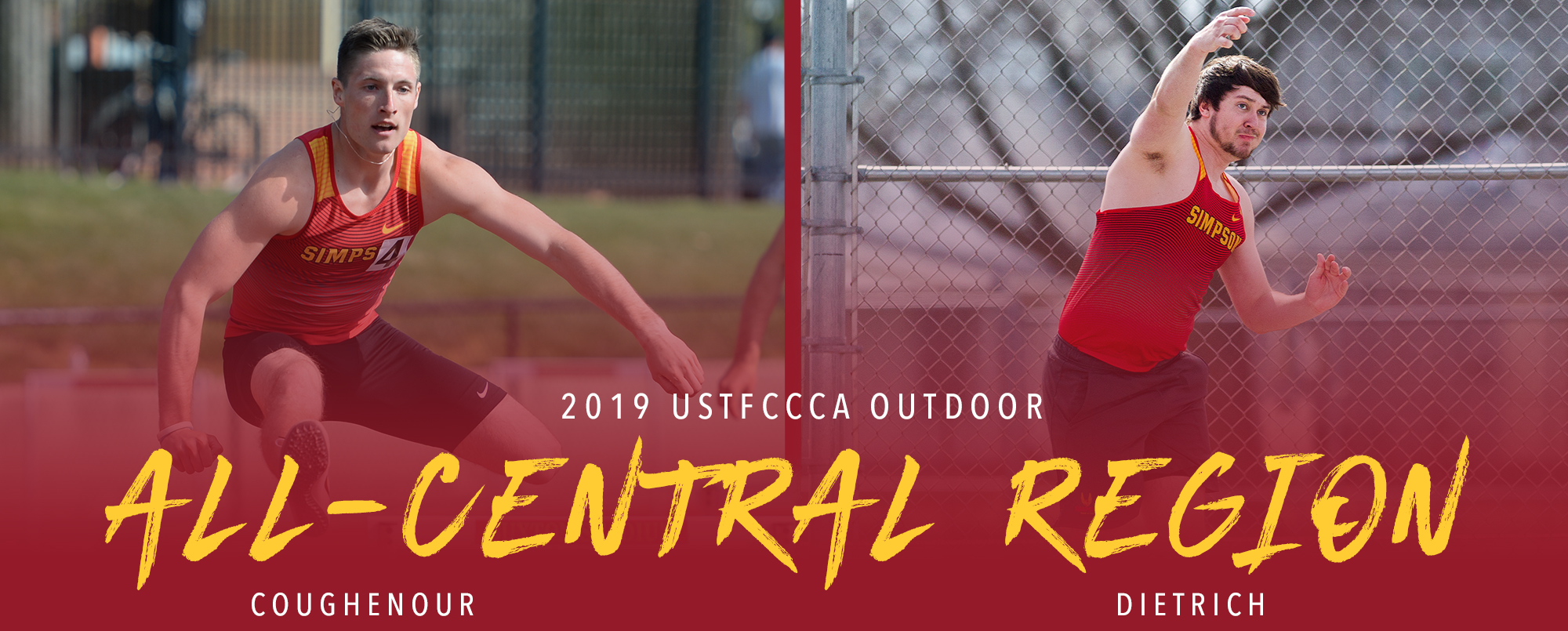 Jordan Coughenour and Josh Dietrich were both placed on the USTFCCCA All-Central Region team.