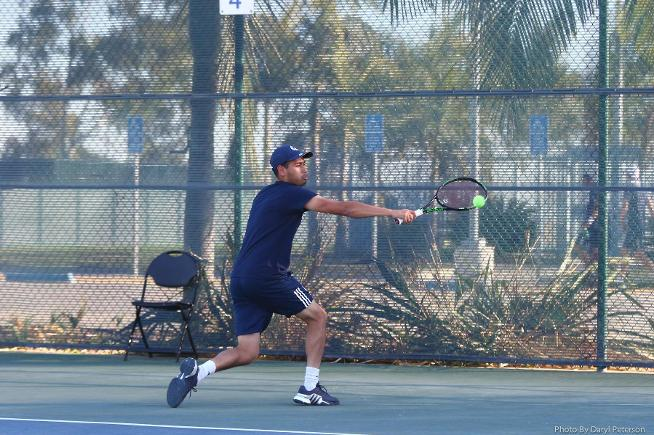 File Photo: Edgar Munoz posted wins in singles and doubles for the Falcons