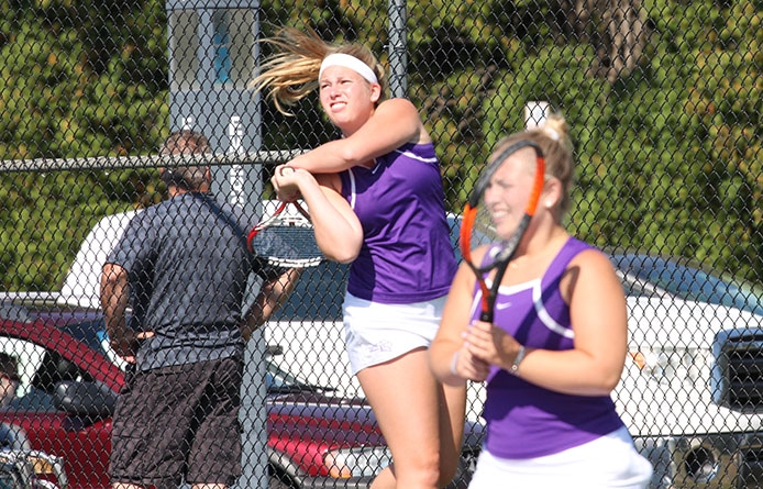 Women's Tennis Caps Home Weekend with Setback to Regional Power Stonehill