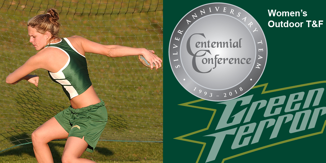 Kristy Costa makes the Centennial Conference Silver Anniversary Team for women's outdoor track and field.