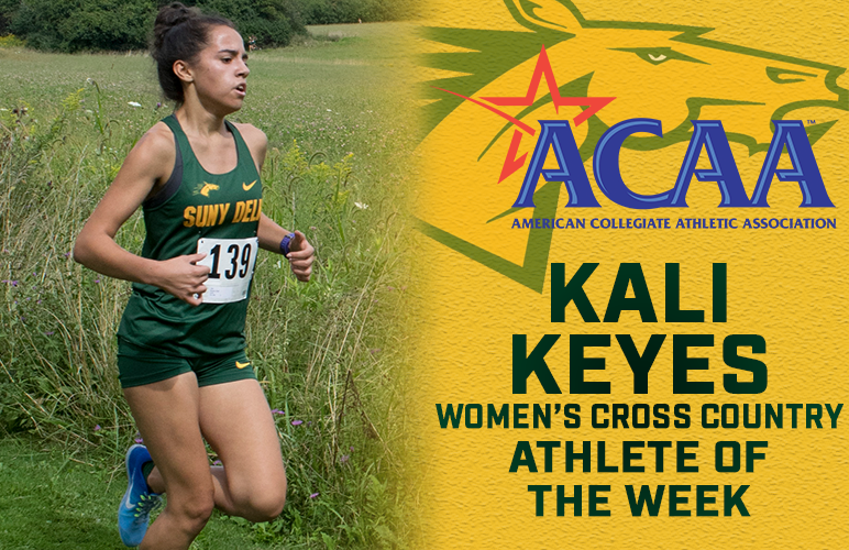 Kali Keyes Receives First Career ACAA Athlete of the Week