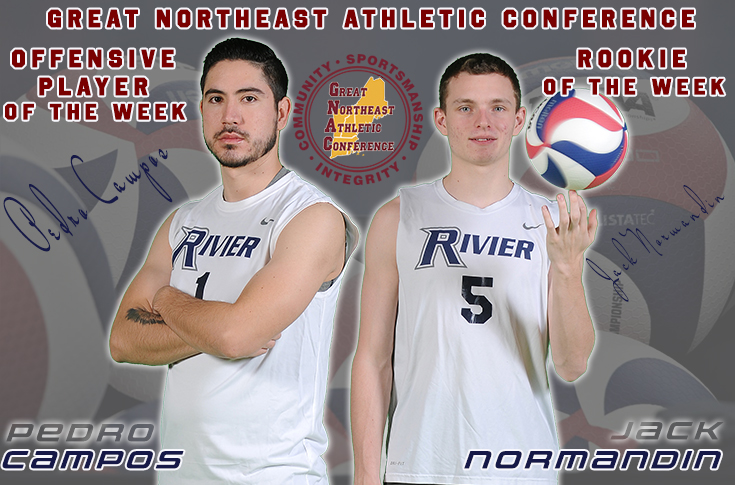 Men's Volleyball: Campos, Normandin earn GNAC Weekly Honors