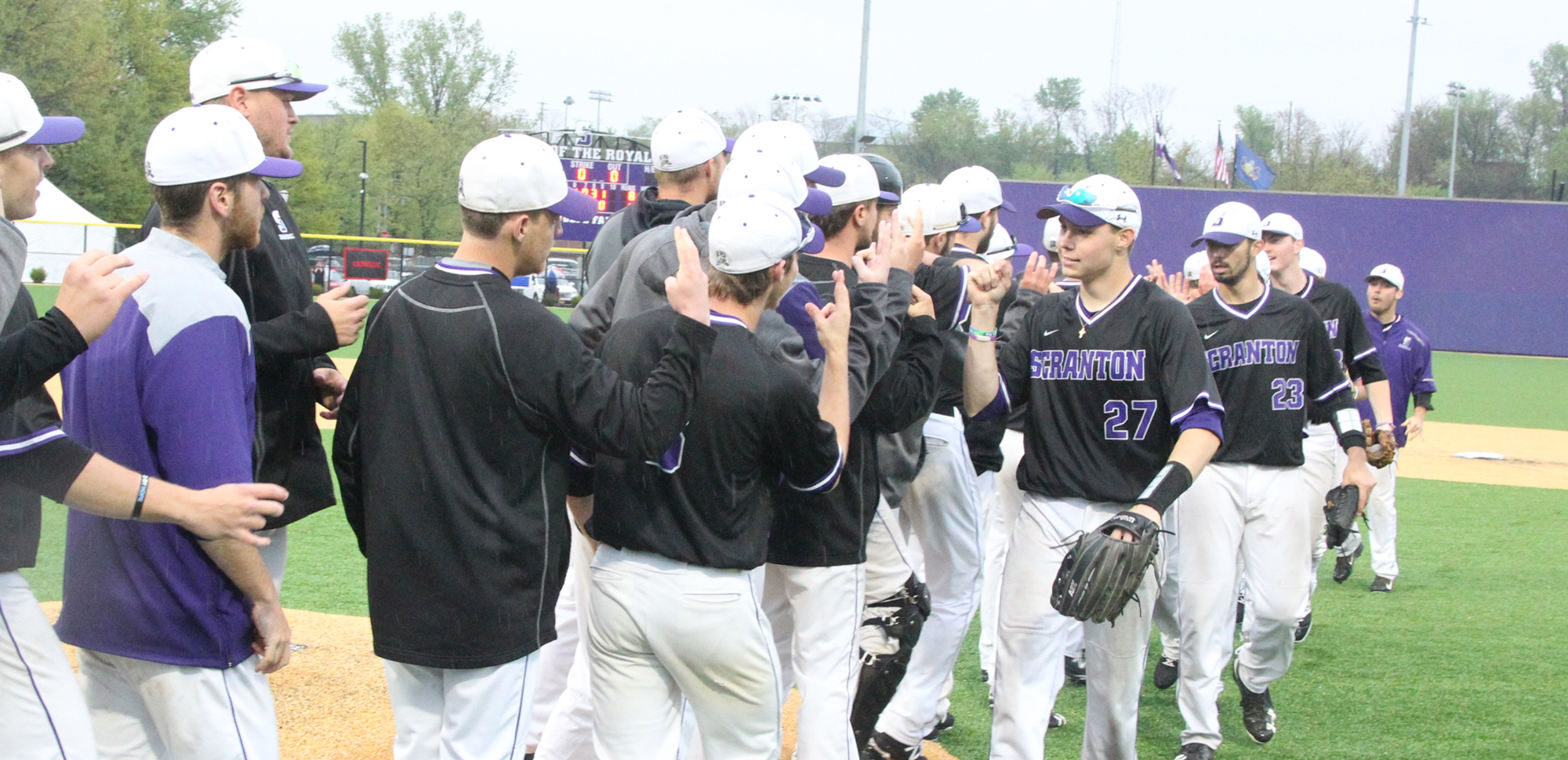 The baseball team advanced to the final of the Landmark Conference Championship with an 8-4 win over Catholic on Saturday.