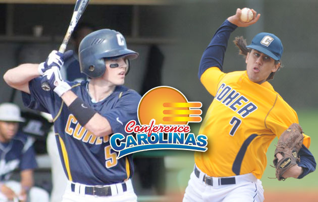 Coker Sweeps Conference Carolinas Player and Pitcher of the Week Honors