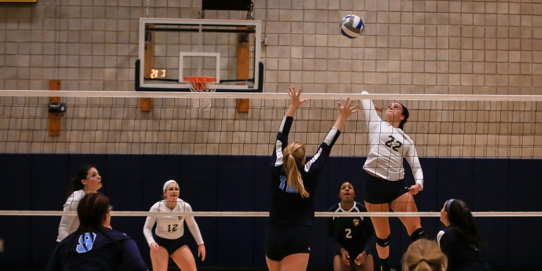 Volleyball Falls in Straight Sets to Morrisville State