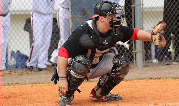 Ryan Ruhlin went 3-for-4 with a career-high four RBI in Sunday's loss to Castleton State.