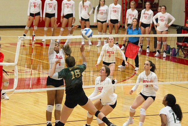 #16 Mesa Volleyball Takes 3-1 Victory From Scottsdale