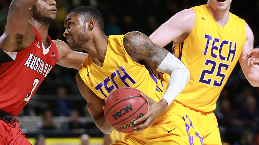 Tech claims second straight 2-0 start to OVC play, rallies to defeat Austin Peay 76-67