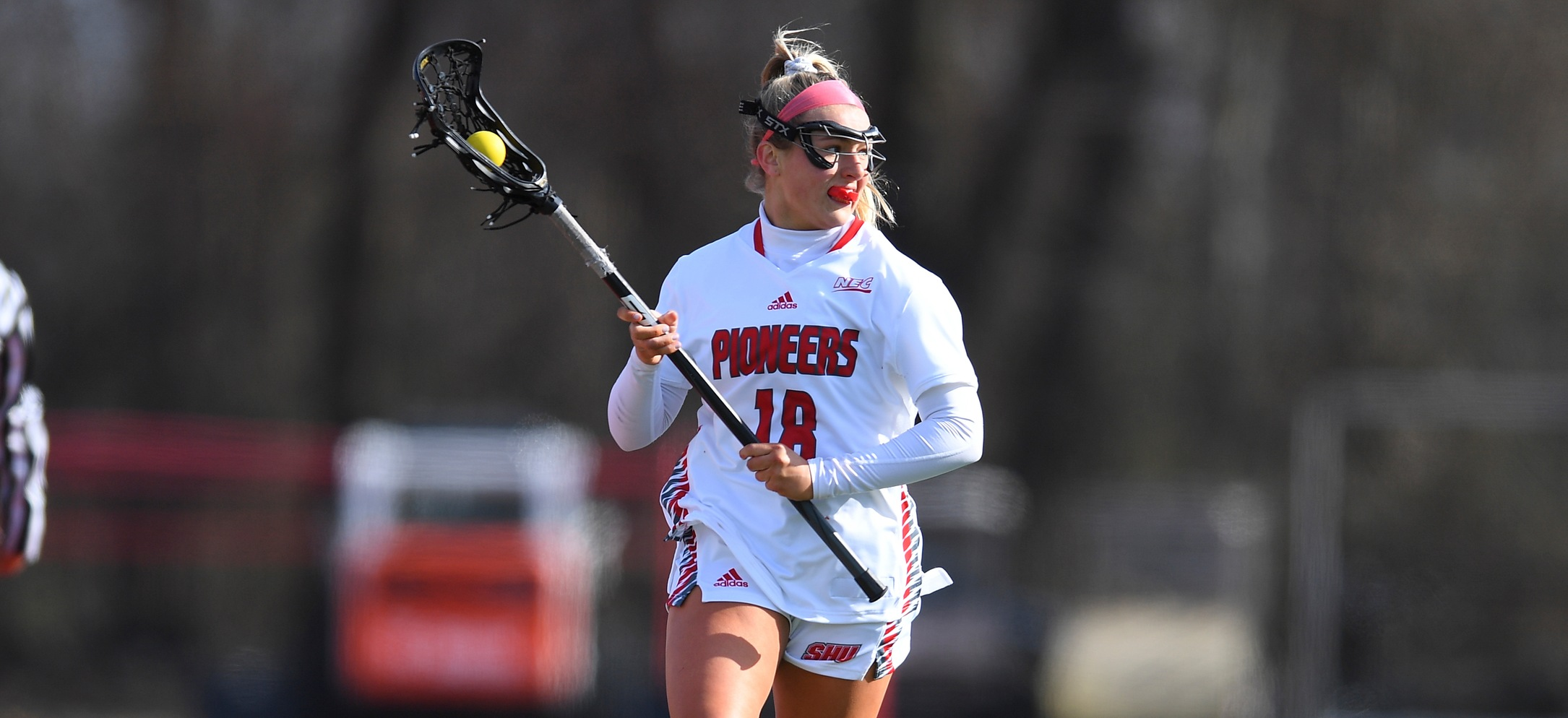 Claire McElhenny notched a career-best seven draw controls in the win over Delaware State (Photo: Steve McLaughlin)