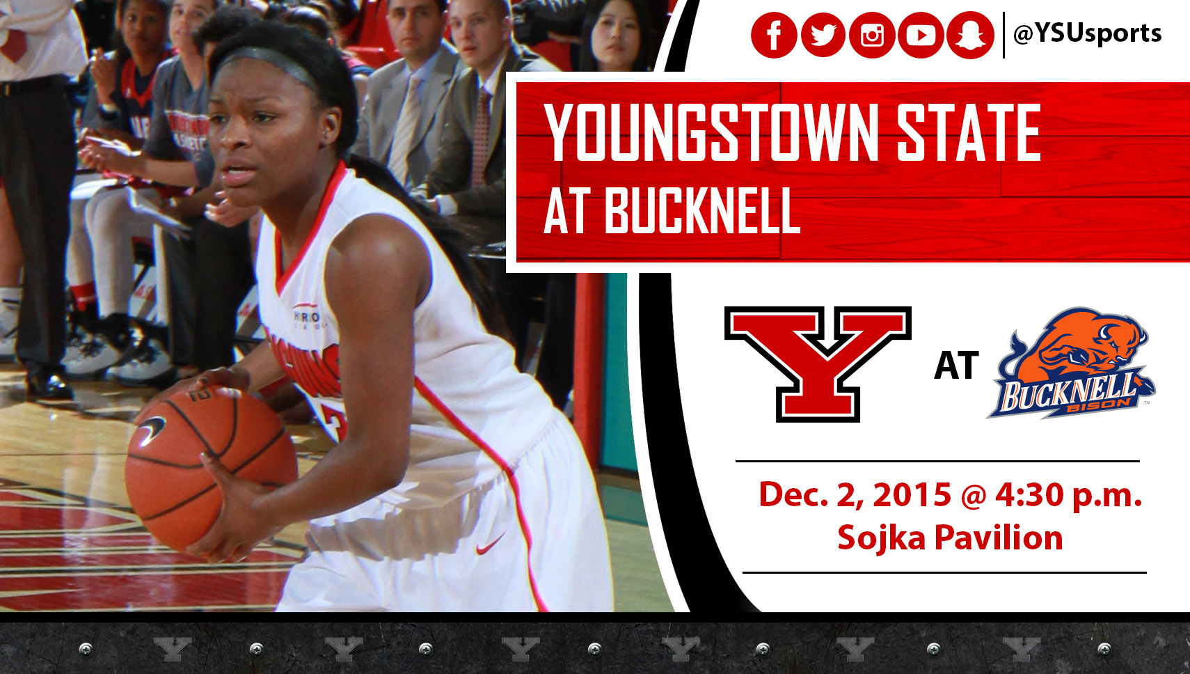 Indiya Benjamin and YSU play the second of three straight road games at Bucknell on Wednesday.