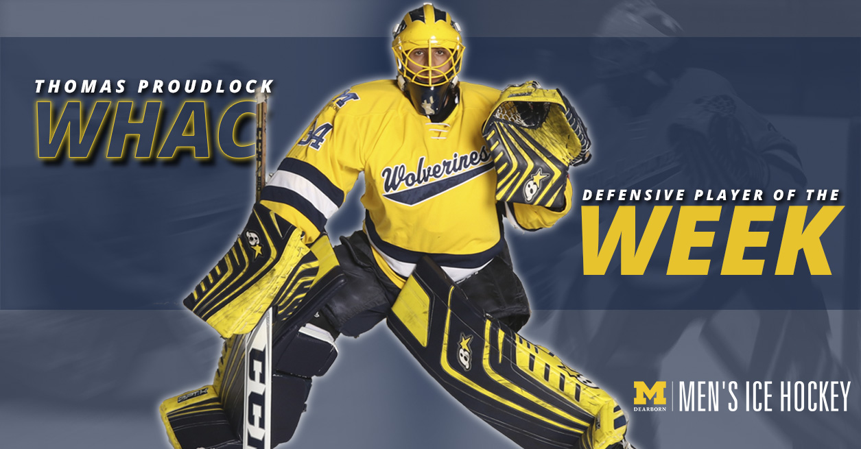 Proudlock named WHAC Defensive Player of the Week