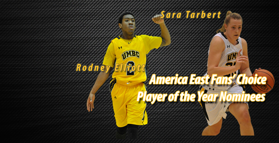 Tarbert And Elliott Nominees for America East Basketball Fans' Choice Player of the Year
