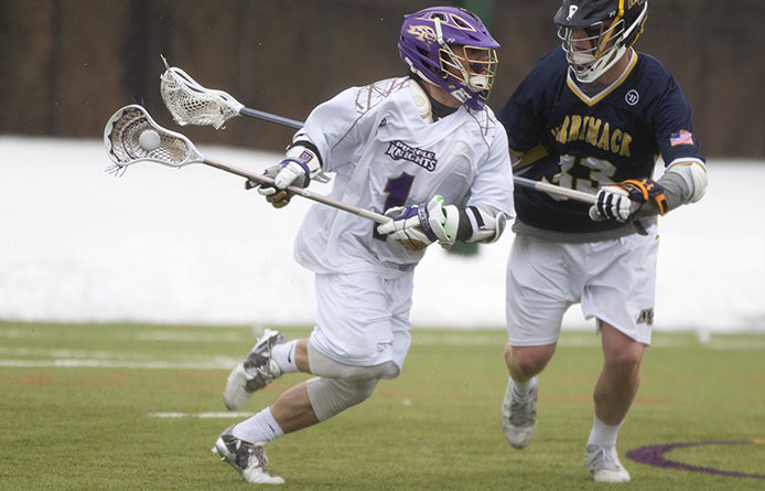 Men's lacrosse falls at Franklin Pierce, 11-7, in NE10 road affair