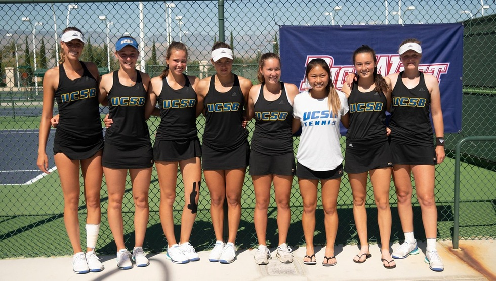 UCSB Women's Tennis (Photo by Josh Barber)