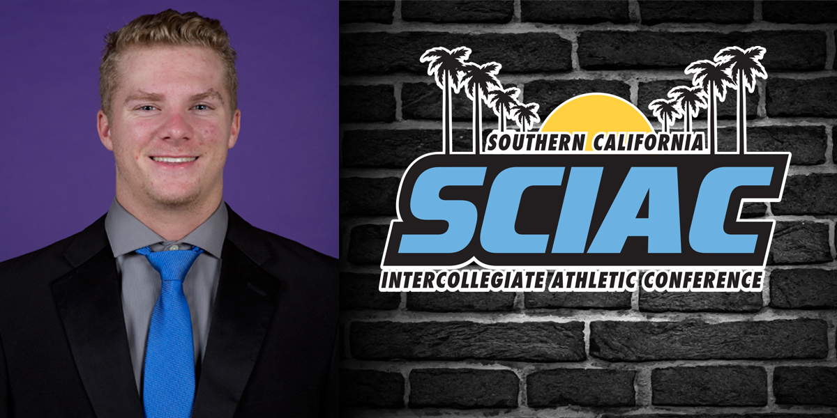 Cooper Allen named SCIAC Special Teams Athlete of the Week