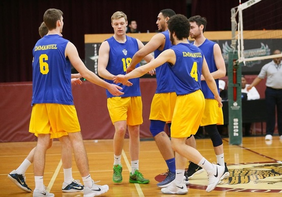 MEN'S VOLLEYBALL TOPS DEAN; FALLS TO NAZARETH AT JWU INVITE