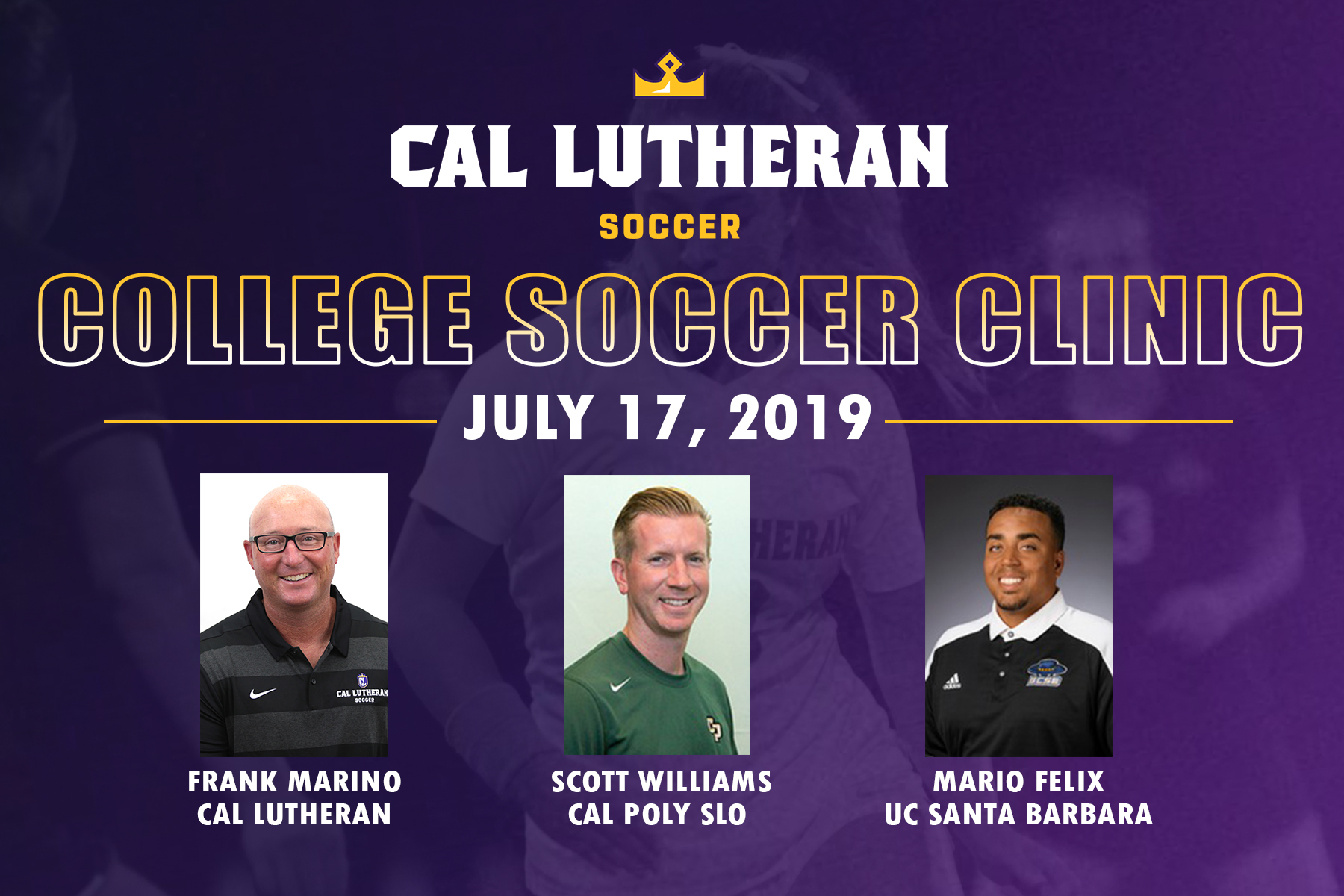 Cal Poly, UC Santa Barbara Join Regals College Soccer Clinic Staff