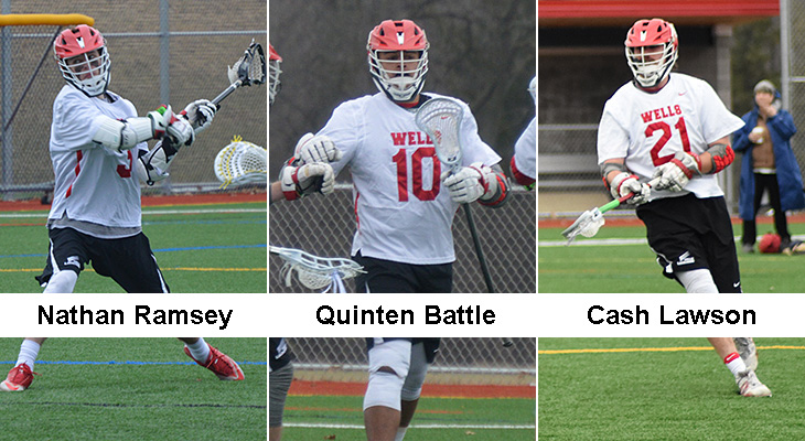 Three Men's Lacrosse Players Earn All-NEAC Honors