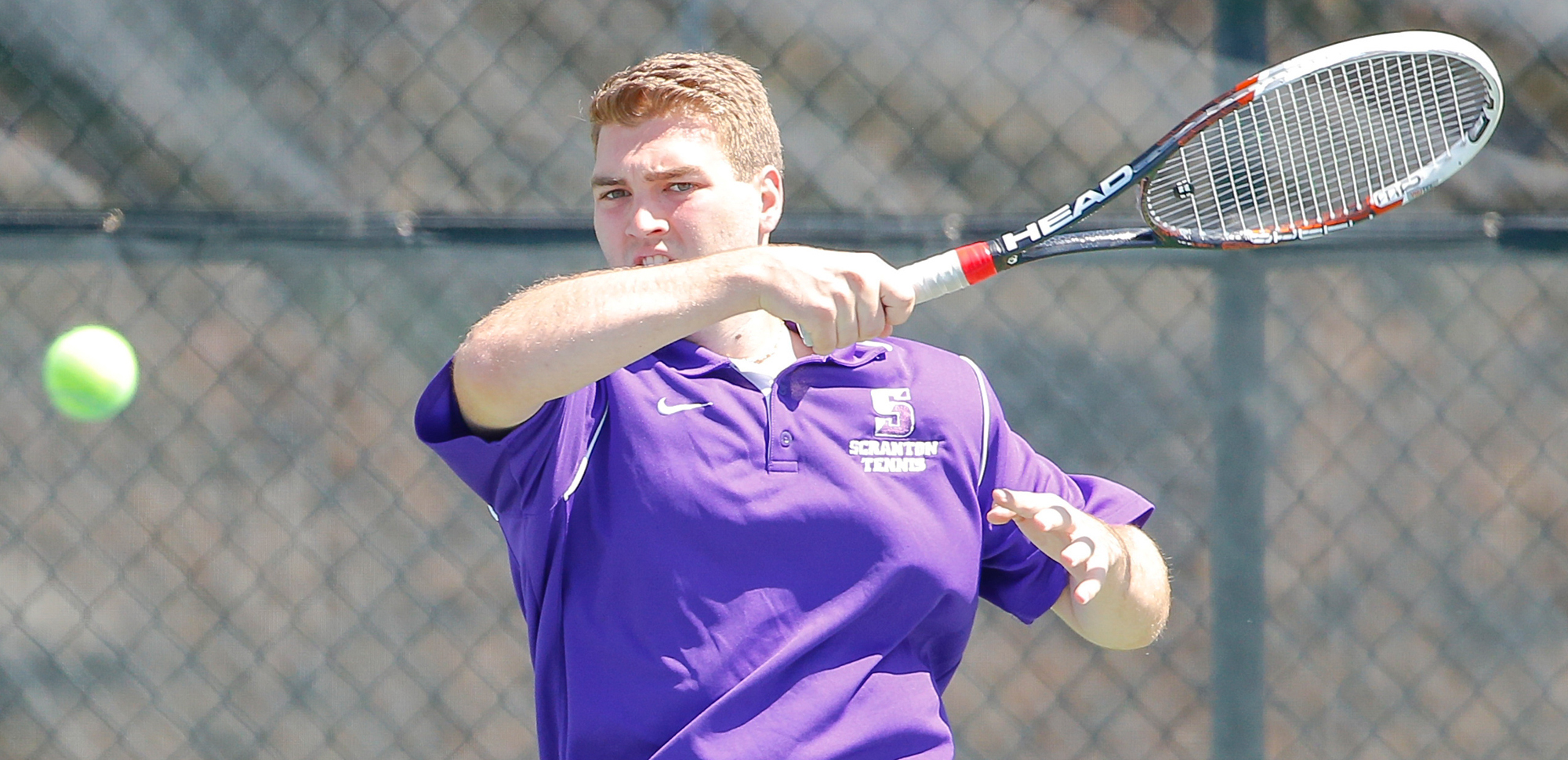 Senior Matt Prendergast won in singles on the day, as he and fellow senior Michael Pottieger were honored before Sunday's match with Juniata at Royal Courts.