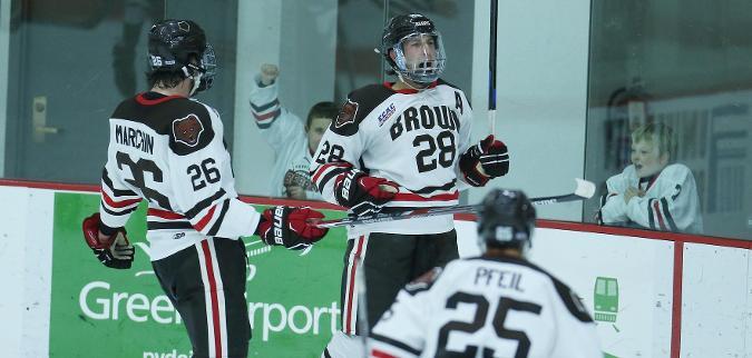 Brown and Colgate Skate to Draw - ECAC Hockey