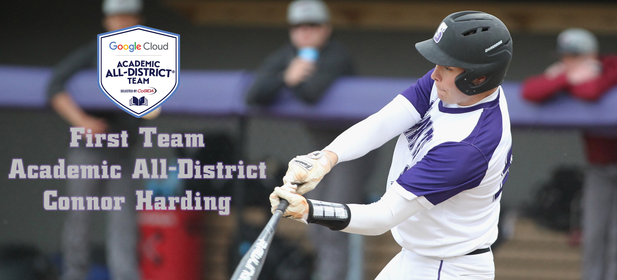 Sophomore outfielder Connor Harding has been named to the CoSIDA Academic All-District Team. © Photo by Timothy R. Dougherty / doubleeaglephotography.com