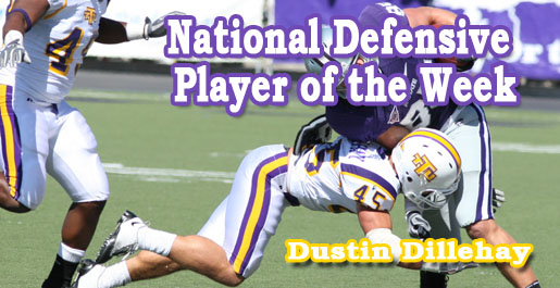 Dillehay named National Defensive Player of the Week, National All-Star by The Sports Network and College Sporting News
