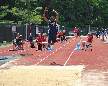 Gallaudet's Darius Flowers in the triple jump