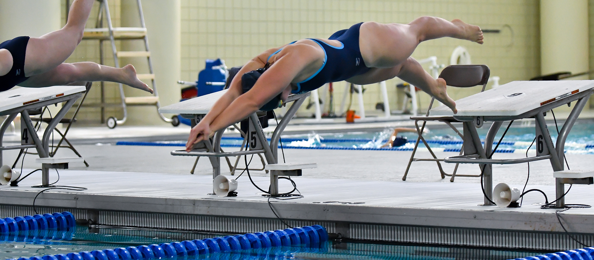Action photo of Lyons swimmer, Delany Berry